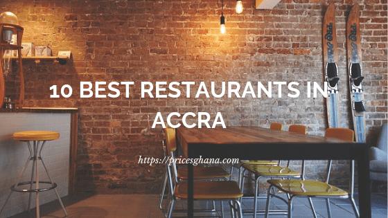 Restaurants in Accra