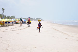 Eastern Part of the Labadi Beach Ghana