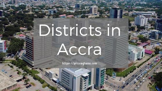 Districts in Accra