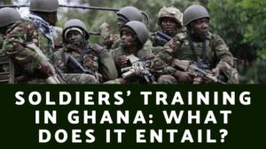 Soldiers Training in Ghana