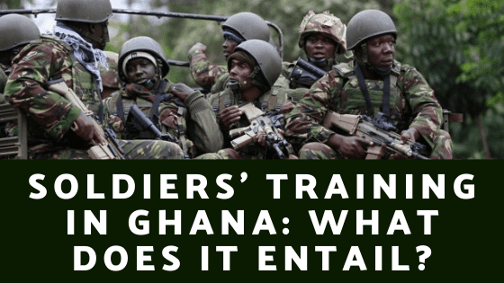 Soldiers Training in Ghana